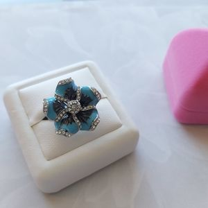 Blossom Blue Sterling Silver Ring